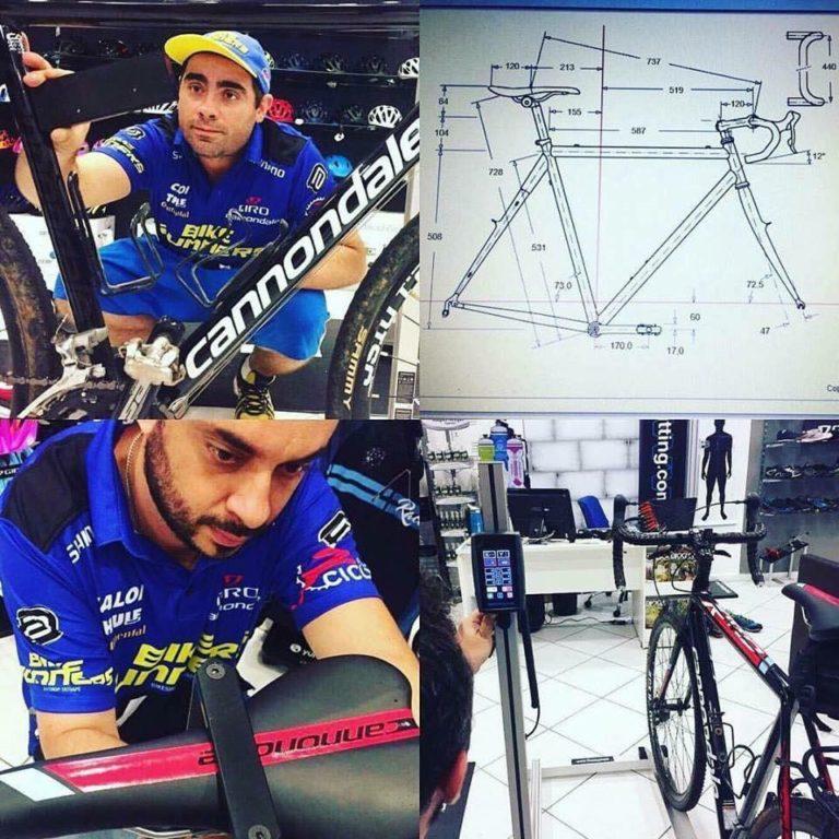 profissionais bikerunners executando bike fit