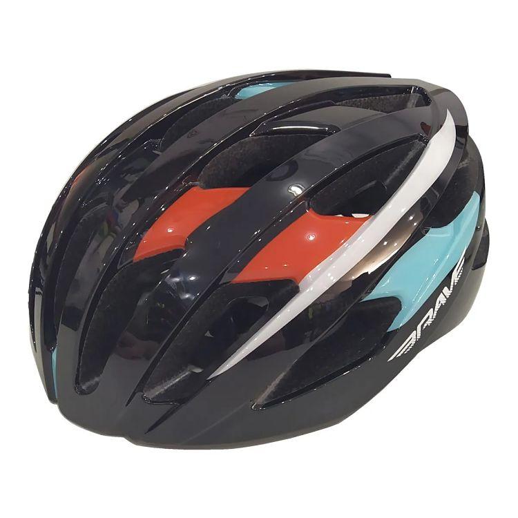 capacete para ciclismo preto e laranja