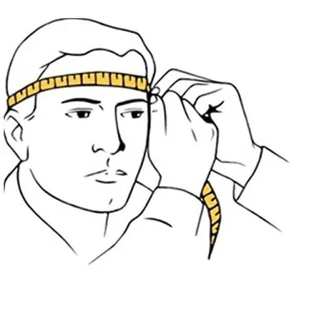 ilustração pessoa medindo cabeça
