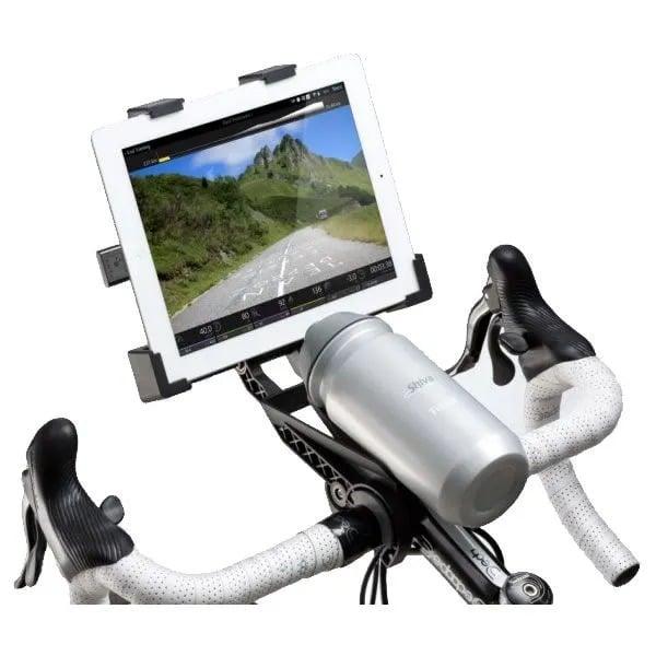 suporte de guidão para tablet ideal para uso em rolo de treino