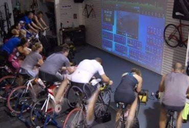 ciclistas treino de intervalo