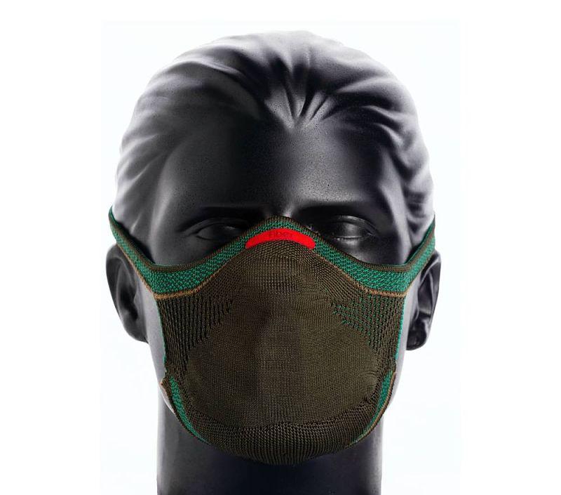 Mácara de proteção reutilizável knit máscara fiber masculino g verde militar