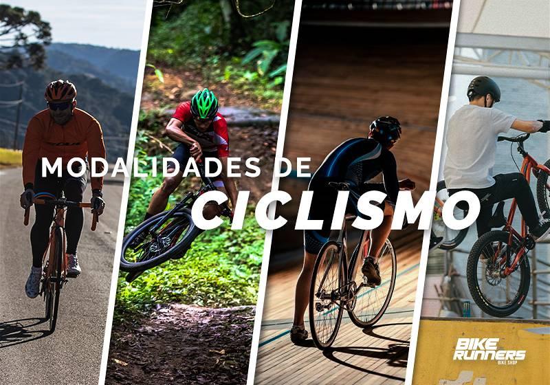 Banner divido mostrando modalidade de ciclismo