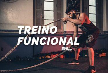 Banner com homem fazendo treino funcional com cordas pesadas