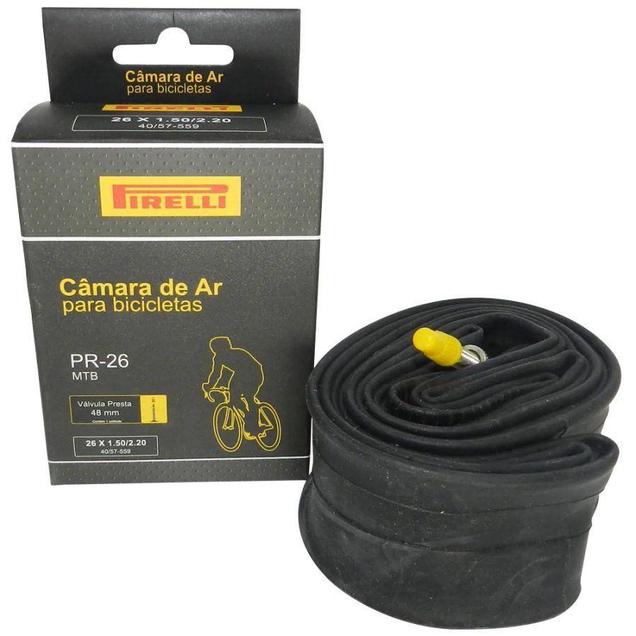 camara de ar da marca pirelli para bicicleta