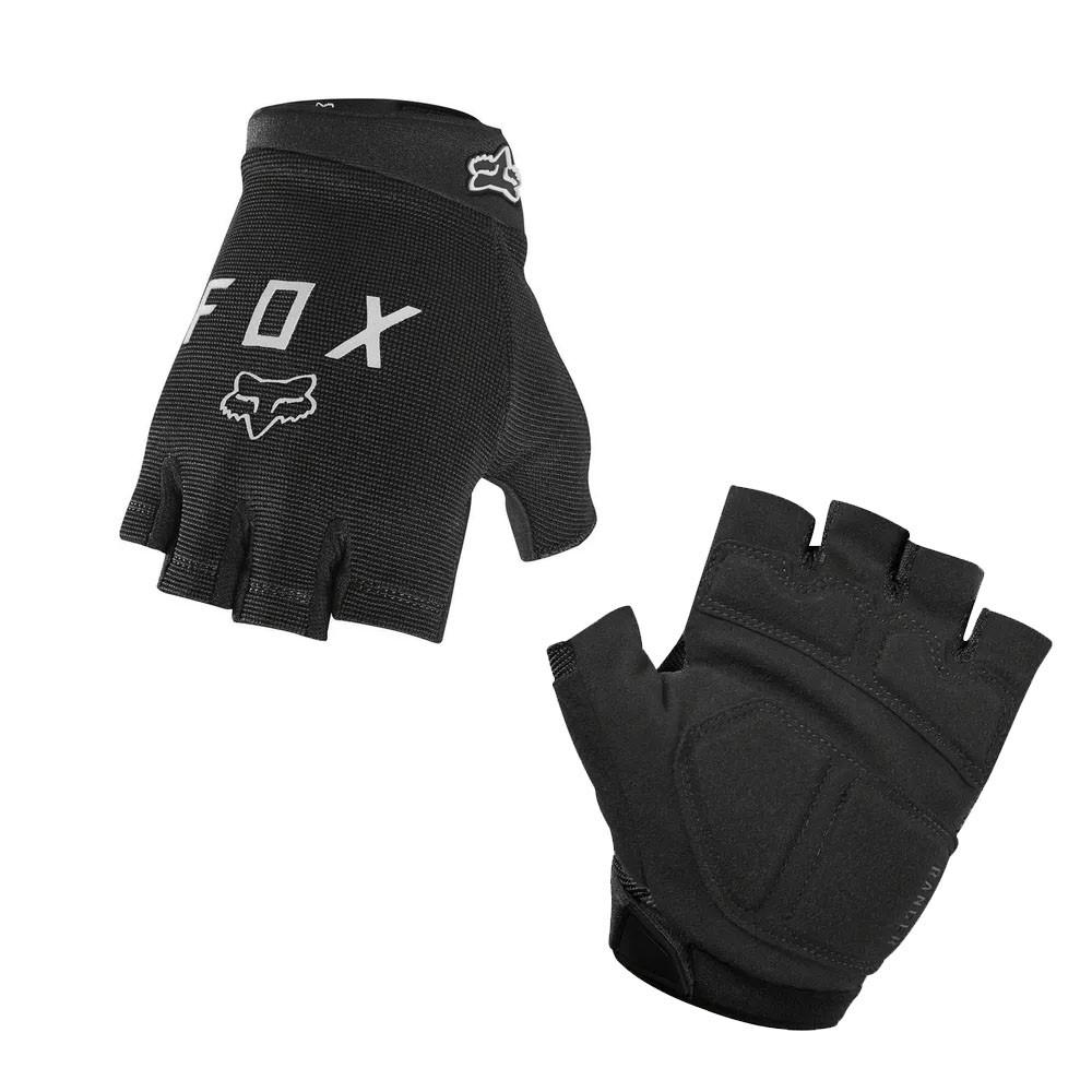 luva de ciclismo preta da marca FOX